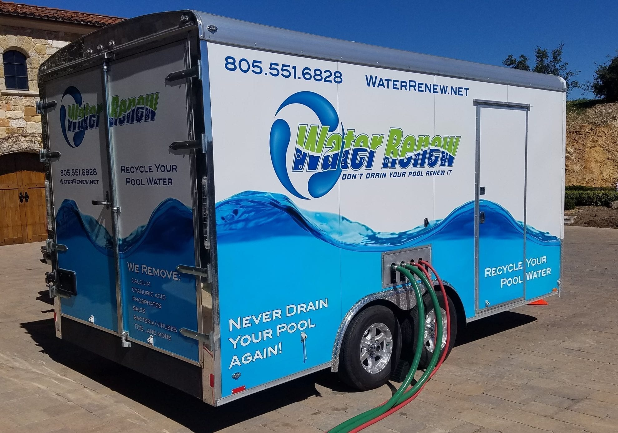 Mobile Filtration Reverse Osmosis For Swimming Pools Pure Water Industries