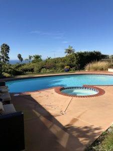 Hard pool water