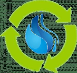 Pure Water Industries Logo Water Drop
